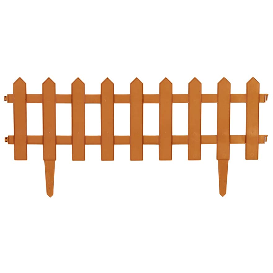 "Pannelled PE ornamental border ""Fence"""