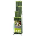 Espositore tutori in bamboo plastificato verde
